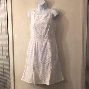 Sleeveless cotton flair dress